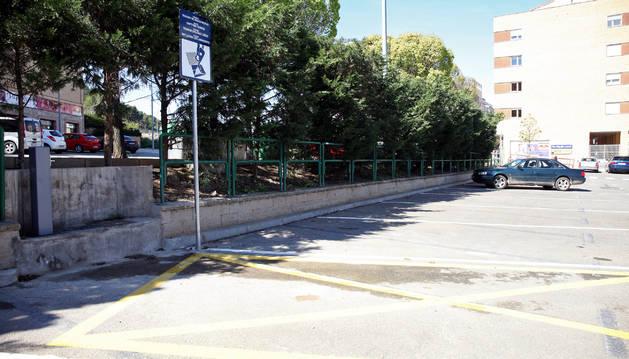 El área de autocaravanas ubicada en el parking de la avenida Argentina.