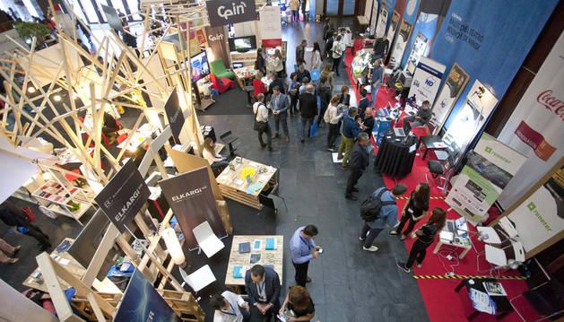 foto de la Feria de Innovación y Emprendimiento de la anterior edición de Pamplona Innovaction Week