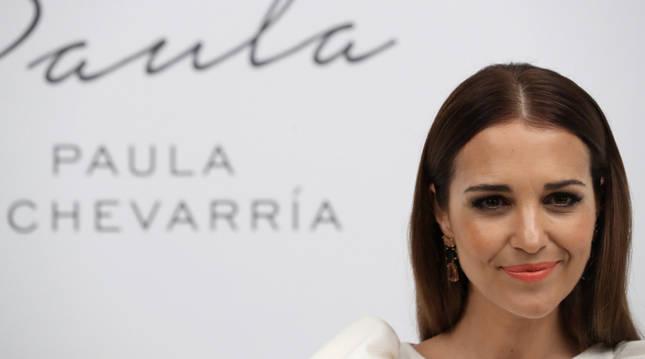 La actriz Paula Echevarría durante la presentación de su nuevo perfume