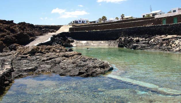 Piscinas Naturales de Charco del Palo en Lanzarote.