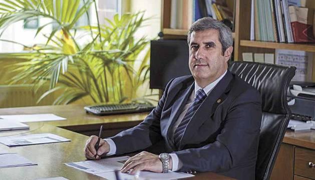Miguel Iriberri Vega, presidente de la Fundación Industrial Navarra.