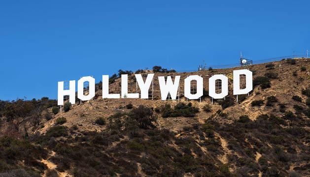 Imagen del cartel de Hollywood.