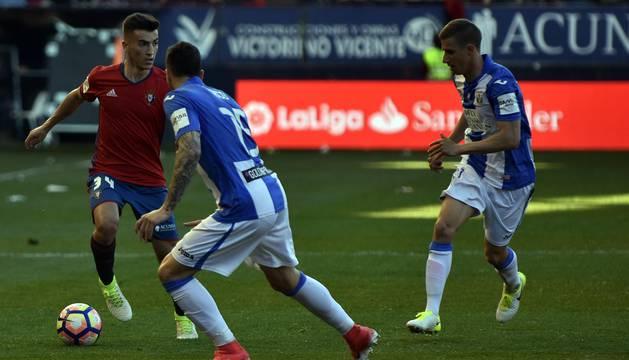 Imágenes del partido entre Osasuna y el Leganés disputado en El Sadar