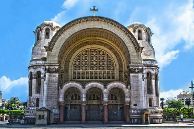 Imagen de la catedral cristiana copta de San Marcos, en Alejandría.