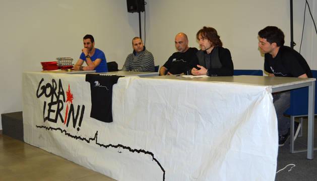 Momento de la presentación de la nueva asociación en el centro cultural Pilar Ureta de Lerín.