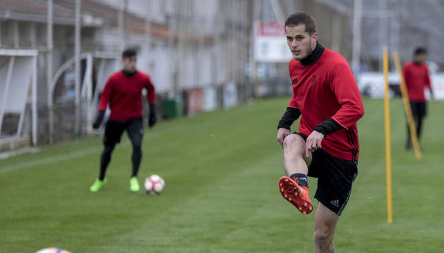 Goran Causic durante un entrenamiento