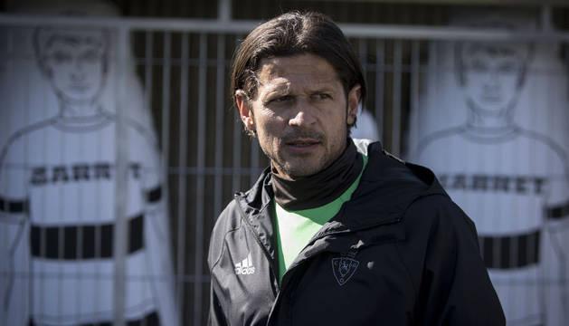 Vasiljevic durante el entrenamiento del jueves en Tajonar