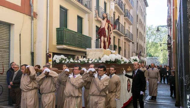Pamplona celebra la Pascua de Resurrección con una procesión nueva