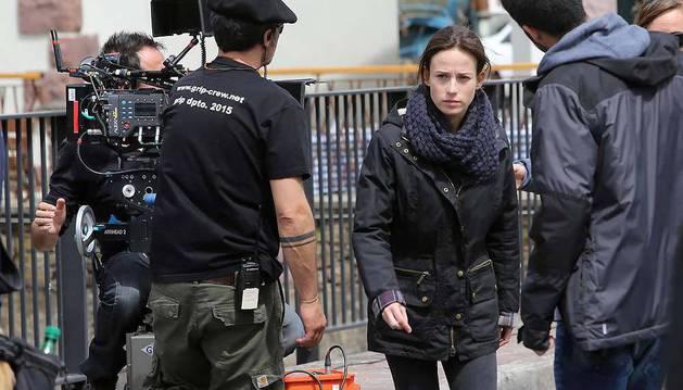 La actriz Marta Etura, durante el rodaje.