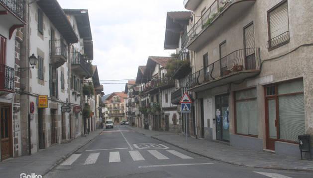 Detalle de la calle Altzate, en el entramado urbano de Bera.