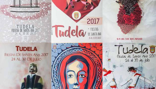 Imágenes de los carteles finalistas del concurso de fiestas de Santa Ana 2017