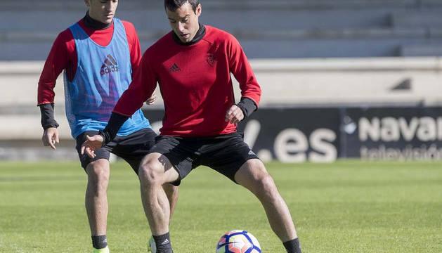 Imagen de Javier Flaño, en su vuelta a los entrenamientos.