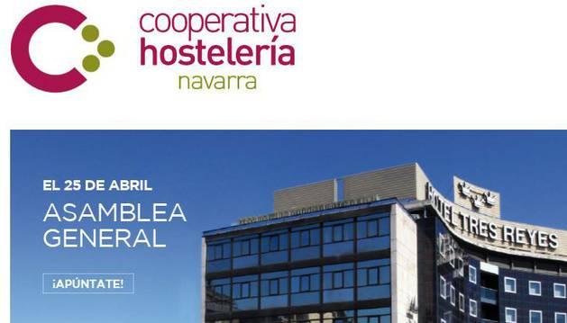 La página web de la Cooperativa Hostelera anuncia la Asamblea General donde se celebrarán las elecciones