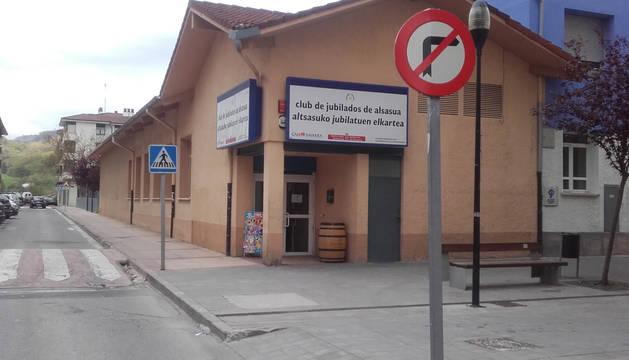 Foto del lugar de los hechos en Alsasua.