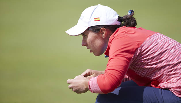Carlota Ciganda, en el Estrella Damm Mediterranean Ladies Open.