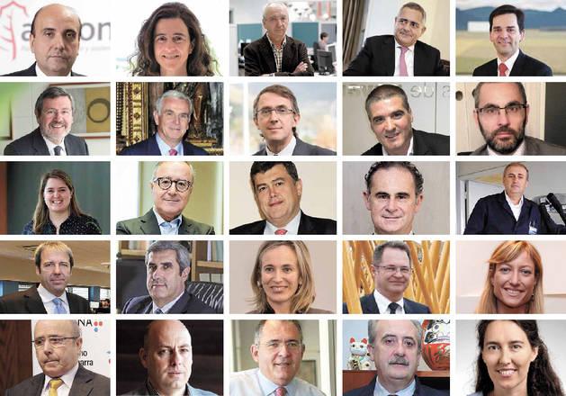 foto de un mosaico con los protagonistas y empresarios de la industria navarra