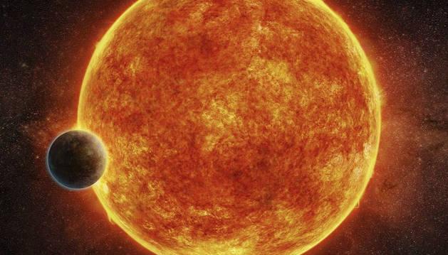 Foto facilitada por el ESO, del exoplaneta LHS 1140b, una supertierra descubierta por un equipo internacional de astrónomos.