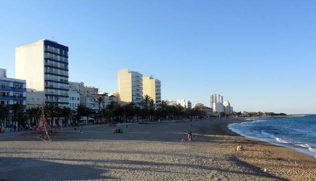 Foto de la primera línea de playa de Vinaroz.