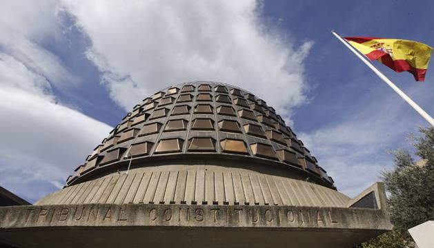 Imagen de la fachada de la sede del Tribunal Constitucional, en Madrid.