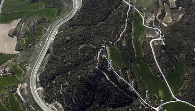 Reportaje aéreo sobre el Canal de Navarra