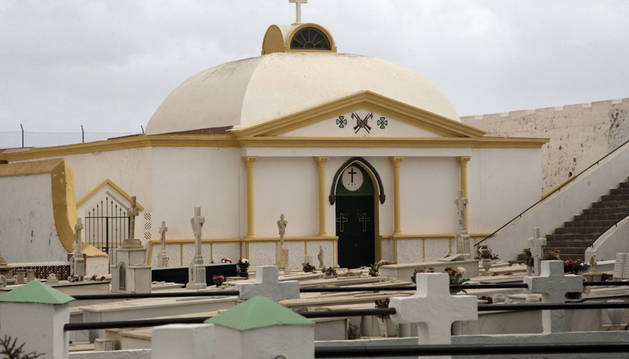 Imagen del pabellón militar de Melilla donde reposan los restos del general Sanjurjo.