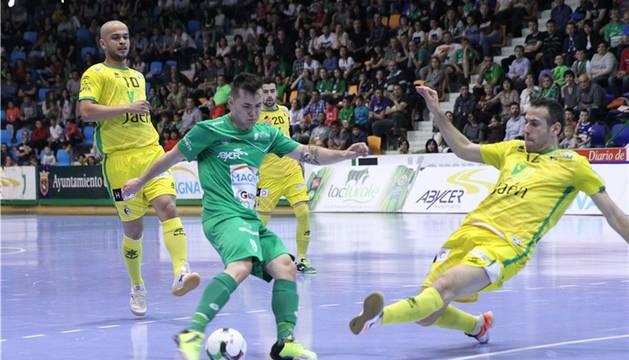 Saldise en un instante del partido contra Jaén