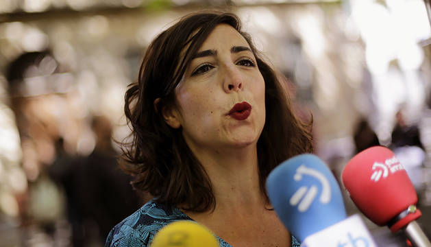Imagen de la secretaria general de Podemos Navarra, Laura Pérez.