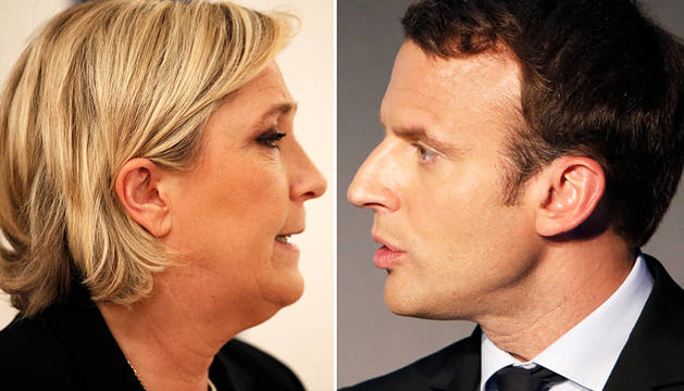 Macron y Le Pen ganarían en Francia, según los sondeos a pie de urna