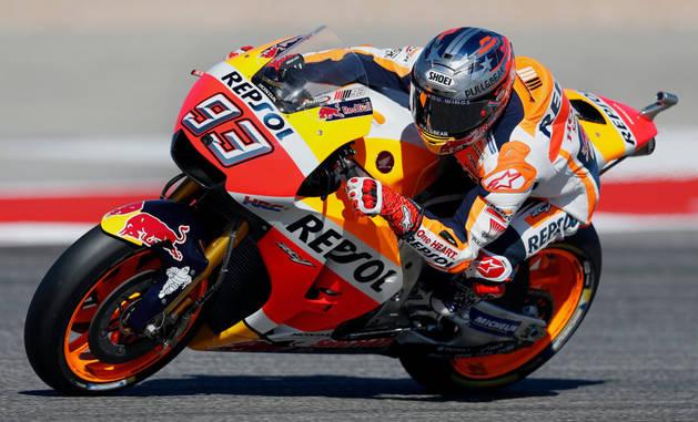 Imagen de Marc Márquez durante la carrera.