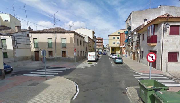Imagen de la calle Cárcabas de Ciudad Rodrigo, donde se ha producido el incidente.