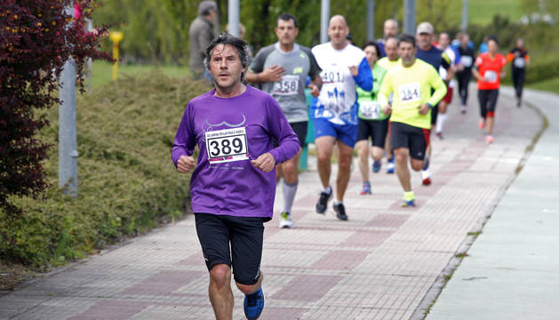 Este lunes tendrá una nueva edición de la carrera de la peña El Charco en Ansoáin. La foto, del pasado año.