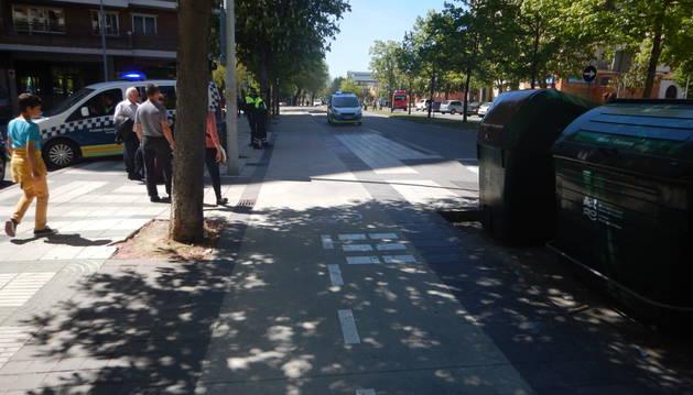Imagen de la calle Monta Monjardín, donde se produjo el suceso.