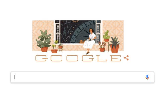 Imagen del Doodle que Google ha dedicado a María Zambrano.