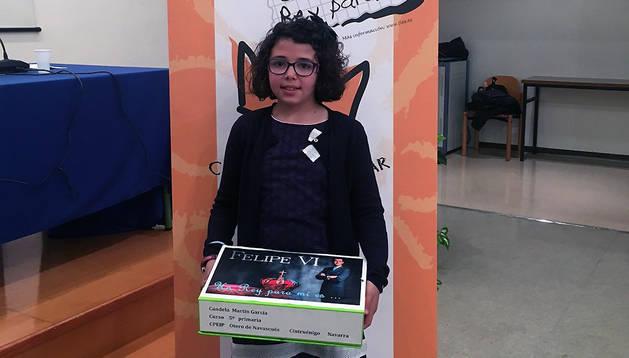 Candela Martín, ganadora de la fase navarra del concurso.