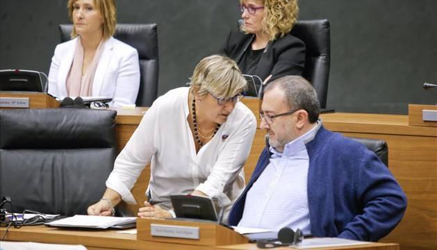 Marisa De Simón y Jose Miguel Nuin en el Parlamento