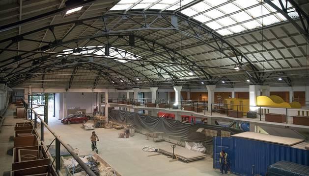 Obras en la estación de autobuses de Pamplona