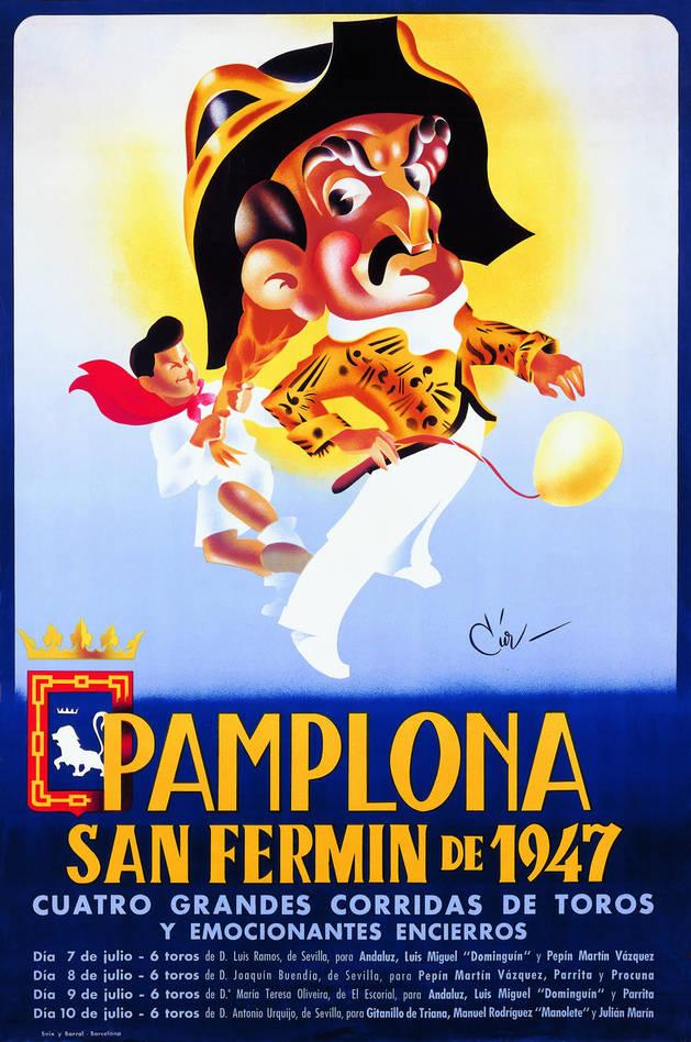 Cartel San Fermín 1947