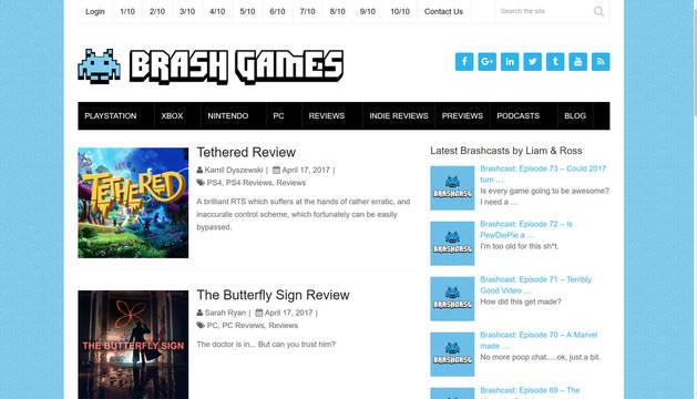 Imagen de la web Brash Games.