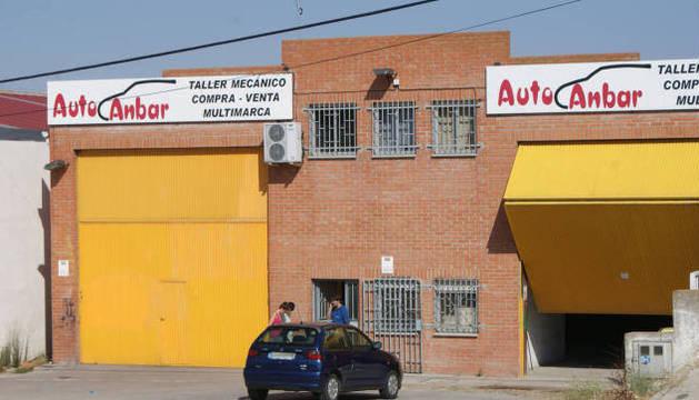 Foto del taller del detenido, en Alba de Tormes.
