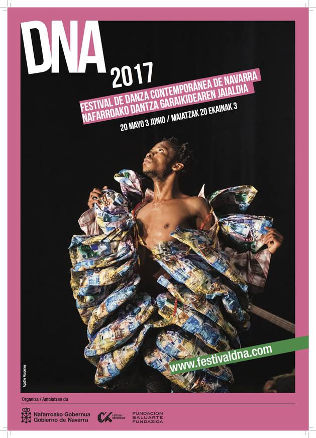 Imagen del cartel del programa del festival DNA.