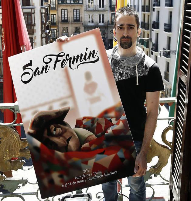 'Mañanas sanfermineras', del diseñador argentino afincado en Pamplona Maximiliano Cosatti, será la imagen de los Sanfermines de este año tras recibir el 27,4% de los votos de las 5.682 personas que han participado en el sufragio popular.