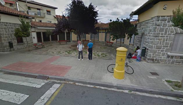 Imagen de la plaza de la Chantrea que pasará a denominarse Unai Salanueva.