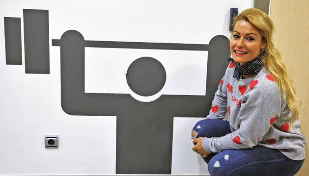 Foto de Lydia Valentín, ayer, en la Casa del Deporte, donde tuvo lugar la presentación del torneo.