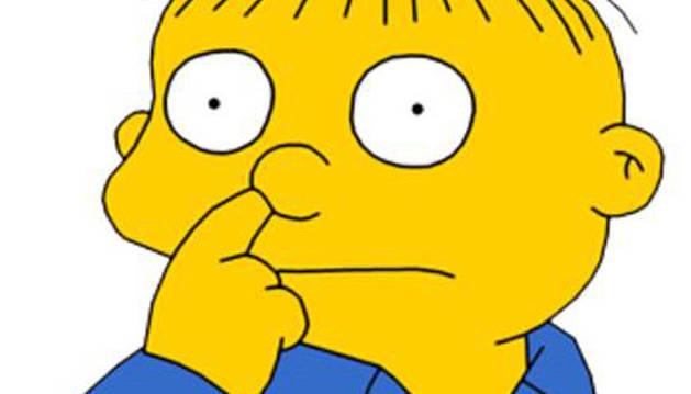 Foto de Ralph Wiggum, personaje de Los Simpsons, hurgándose la nariz.