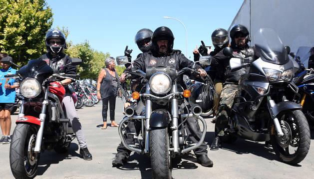 Imagen de archivo de una concentración de motos que tuvo lugar en Ribaforada en 2016.