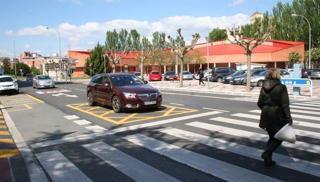 Foto del cruce de la calle Ermitagaña con Malón de Echaide.