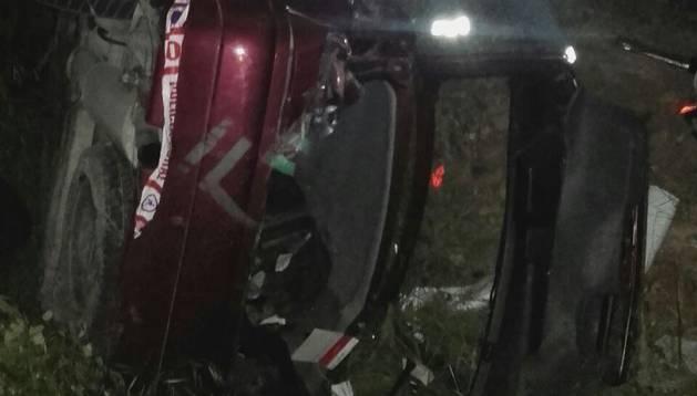Una mujer herida tras salirse de la vía en Villafranca