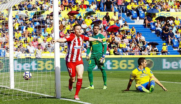 Exhibición del Atlético ante un Las Palmas al que se le está haciendo muy larga la liga