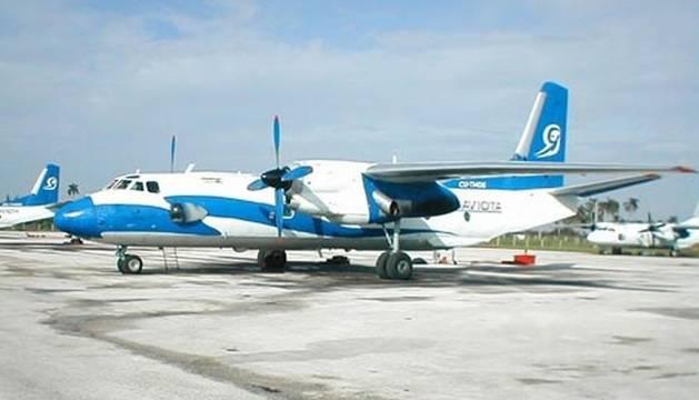 Foto de un avión de la compañía Aerogaviota.