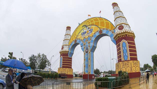 Todo listo para que arranque la Feria de Abril en Sevilla